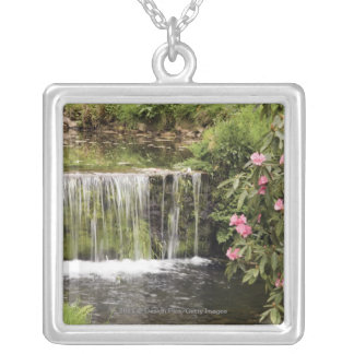 A Stream And Waterfall In Dartmoor National Park Silver Plated Necklace