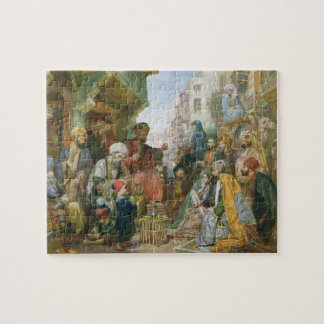 A Street in Cairo (w/c on paper) Jigsaw Puzzle