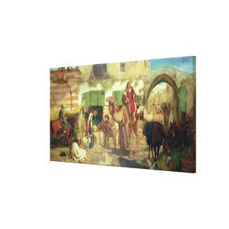 A Street in Jerusalem, 1867 Canvas Prints