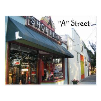 """A"" Street - Santa Rosa, Ca. Postcard"
