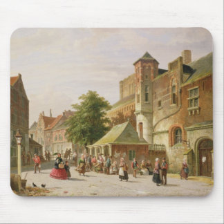 A Street Scene in Amsterdam Mouse Mat