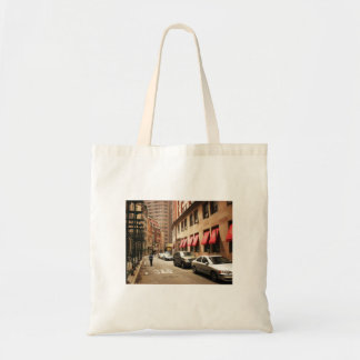 A Street Scene in the Financial District Budget Tote Bag