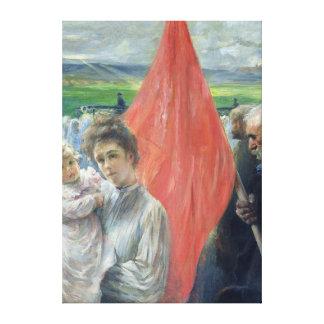 A Strike at Saint-Ouen, 1908 Canvas Print