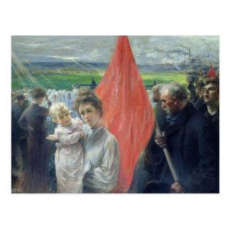 A Strike at Saint-Ouen, 1908 Postcard