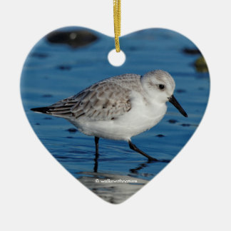 A Strolling Sanderling Christmas Ornament