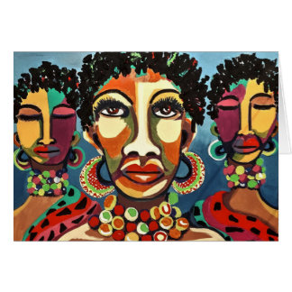 A Strong Woman BHM Notecard
