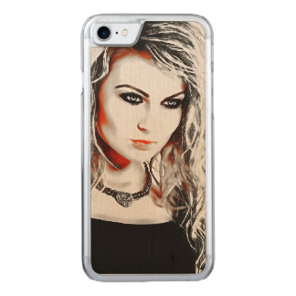 A strong Woman Carved iPhone 7 Case