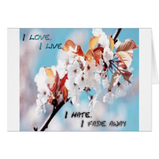 A struggle between love and hate design! greeting card