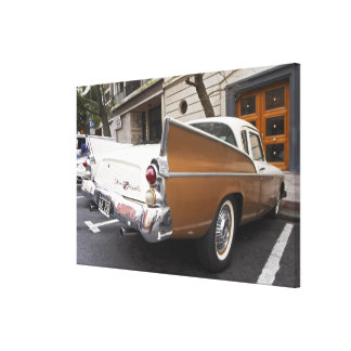 A Studebaker Silver Hawk Classic Car parked on a Stretched Canvas Prints