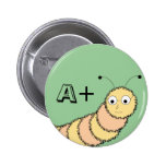 A+ Student Bookworm Pin