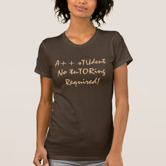 A++ Student No Tutoring Required In Brown T Shirt