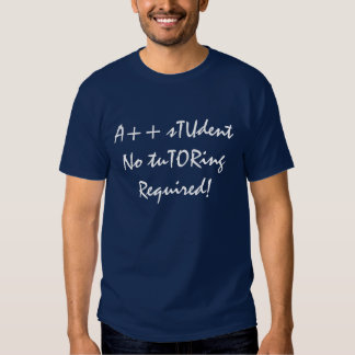 A++ Student No Tutoring Required In Navy Shirt