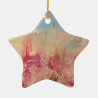 A Study in colour Ceramic Star Decoration