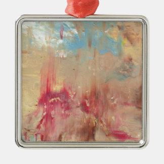 A Study in colour Silver-Colored Square Decoration