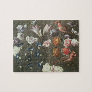 A Study of Peonies, Convolvulus, Lilies and two Fi Jigsaw Puzzle