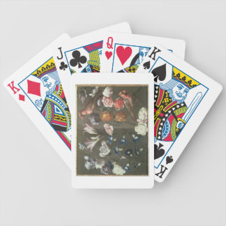 A Study of Peonies, Convolvulus, Lilies and two Fi Poker Deck