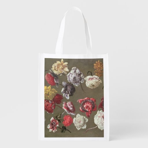 A Study of Peonies (oil on canvas) Market Totes