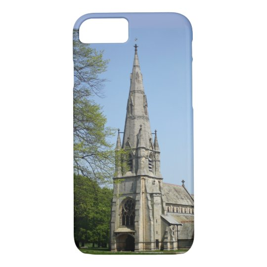 A stunning church with spire on a spring