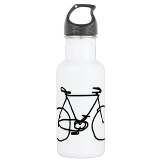 a stylized black bicycle 532 ml water bottle