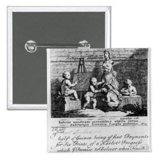A Subscription Ticket for 'A Harlot's 15 Cm Square Badge