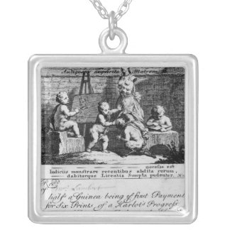 A Subscription Ticket for 'A Harlot's Silver Plated Necklace