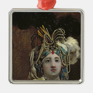 A Sultana, 1748 Silver-Colored Square Decoration