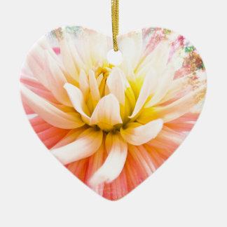 A summer Dahlia flower on vivid background Christmas Ornament