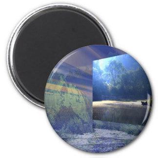 A Summer day 6 Cm Round Magnet