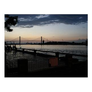 A Summer's Eve View in Savannah Georgia Postcard