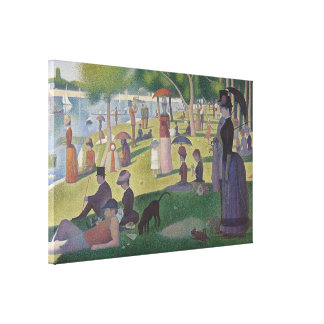 A Sunday Afternoon by Georges Seurat Stretched Canvas Prints