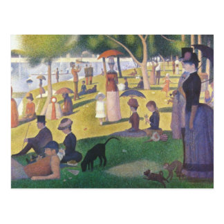 A Sunday Afternoon on La Grande Jatte Postcard