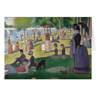 A Sunday on La Grande Jatte by Seurat Greeting Card
