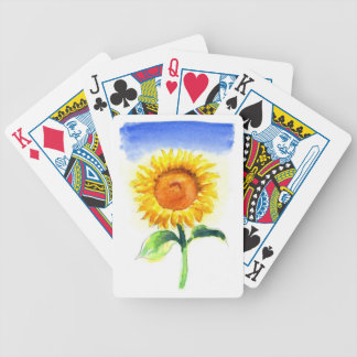 A Sunflower Bicycle Playing Cards