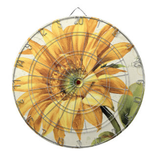 A Sunflower in Full Bloom Dartboard