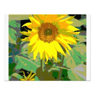 A sunflower invitations