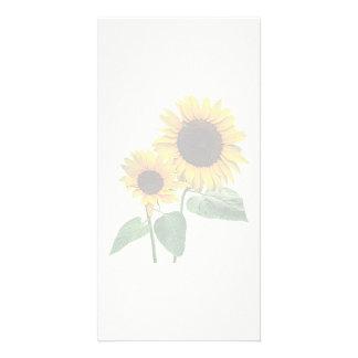 A Sunflower Mommy's Love Customized Photo Card