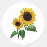 A Sunflower Mummy's Love Round Stickers