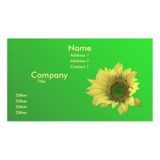 A sunflower pack of standard business cards