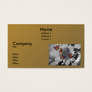 A Sunflower with Several Butterflies Business Card