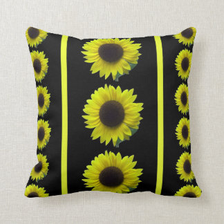A Sunny Bouquet of Bright Yellow Sunflowers Cushions