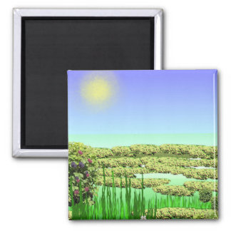 A Sunny Day Square Magnet