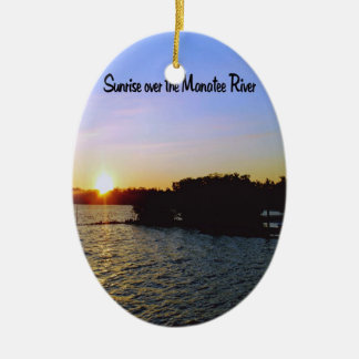 A sunrise in Bradenton Florida Christmas Ornament