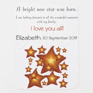 A Sunshine Bright New Star Was Born Baby Blanket