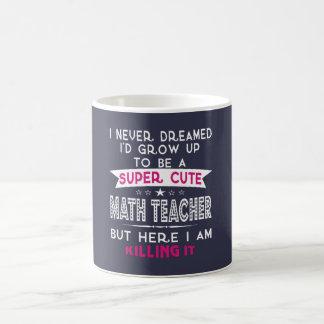 A Super cute Math Teacher Coffee Mug