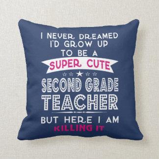 A SUPER CUTE SECOND GRADE TEACHER CUSHION