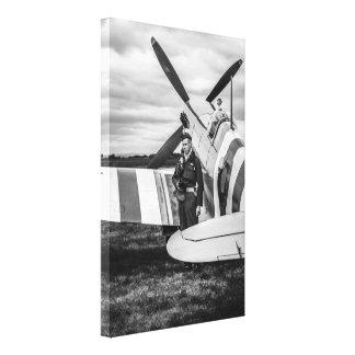 A Supermarine Spitfire Mk9 RAF Fighter Plane Canvas Print