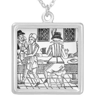 A Supper Party, a 'Book of Roxburghe Ballads' Silver Plated Necklace