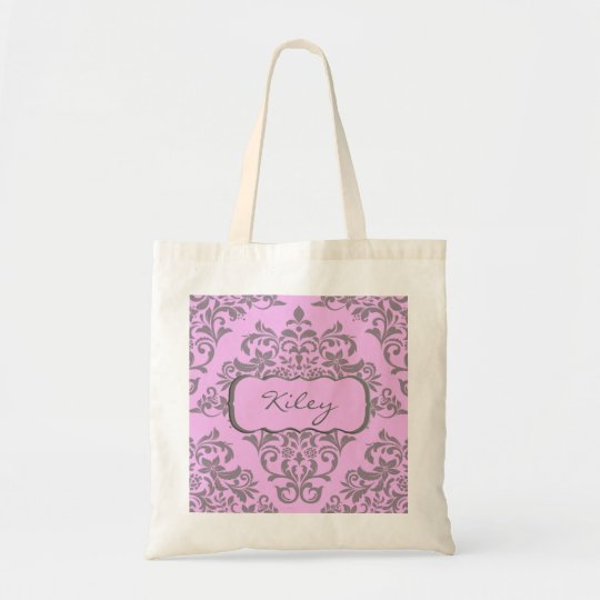 A Sweet Array of Pink and Grey Tote Bag
