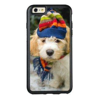 A Sweet Cavachon Puppy In A Winter Hat And Scarf OtterBox iPhone 6/6s Plus Case