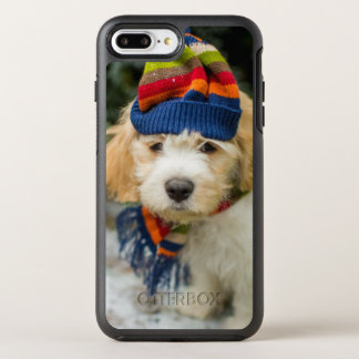 A Sweet Cavachon Puppy In A Winter Hat And Scarf OtterBox Symmetry iPhone 8 Plus/7 Plus Case